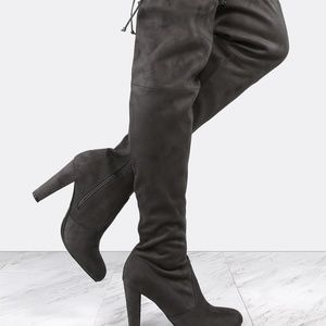 Chunky Tie Up Boots